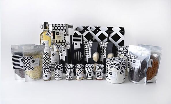 黑白色彩食品包装设计